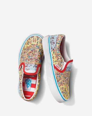 "Vans x Where's Waldo? Classic Slip-on ""Find Steve"""