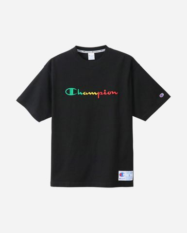 日系彩色Champion 字母短袖TEE