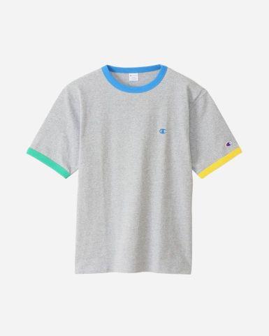 日系男裝圈環設計短袖TEE