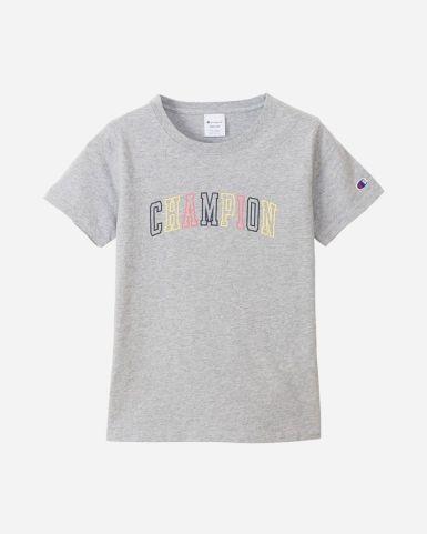 日系女裝柔軟彩色Champion 字母短袖TEE