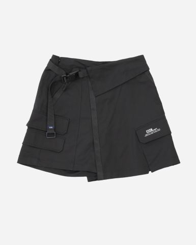 Utility交叉裙褲