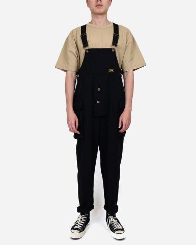 棉帆布漁夫吊帶褲