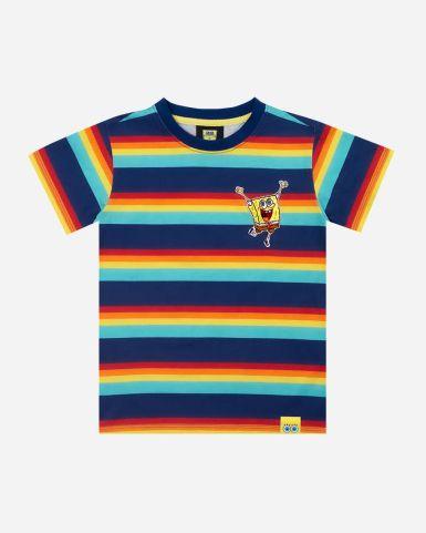 海綿寶寶彩虹印花及刺繡