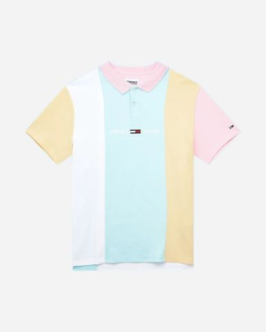 Tommy Jeans男裝拼色Polo衫