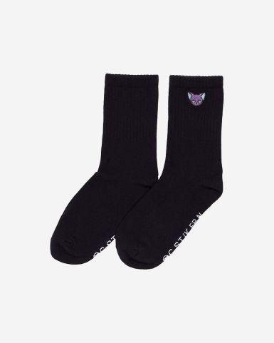 雪比刺繡長筒襪