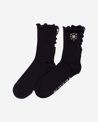 百變小櫻絲帶長筒襪
