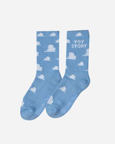 反斗奇兵牆紙雲圖案長筒襪長筒襪